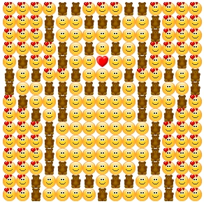 Cute bear made from emoticons