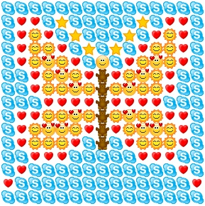 Butterfly made from skype emoticons