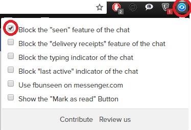 изключване на индикацията за прочетено fb съобщение