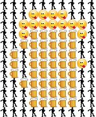 Картинка на бира от емотикони
