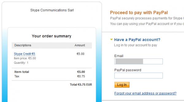 PayPal вход